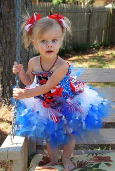 patriotic knot tutu dress