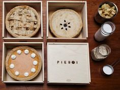 Pie Box, cute wooden box to transport pies