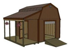 barn shed plans, use a longer overhang to cover the boat