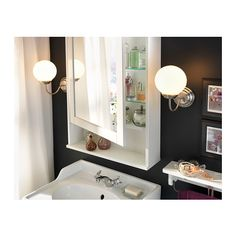 HEMNES Mirror Cabinet With 1 Door White 24 3 4x6 4x38