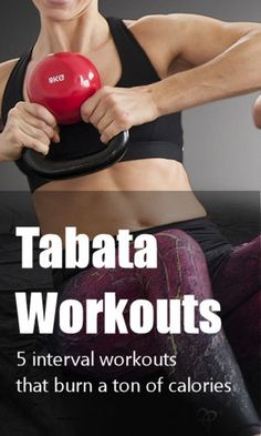 One of the best and fastest ways to burn a lot of calories is with Tabata workouts.  Here's a quick list of five workouts you can do at home. #exercise #workouts