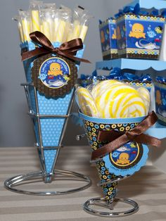 Candy Buffet Ideas: Under The Sea Critters Party Theme #BabyShower #BirthdayParty