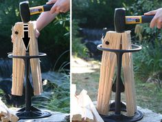 If you need to create kindling for your campfire, wood stove, fireplace or pizza oven and you don't want to risk injury by using an axe, the Kindling Cracker is just what you need.