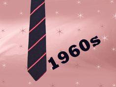 Men's Vintage Thin Silk Tie - 1960s Conservative Necktie - 60s Navy Blue Thin…