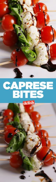 Caprese bites are the holiday app you can throw together in minutes. Get the recipe on Delish.com.