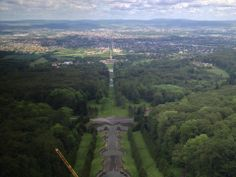 """""""A room with a view..."""" provides a panoramic look at the landscape of Kassel Germany (Photo by Eric Small, Illinois)"""