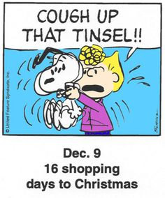 This is a classic countdown panel from 2000 Peanuts Christmas, Charlie Brown Christmas, Charlie Brown And Snoopy, Christmas Love, Christmas Countdown, A Christmas Story, Christmas Quotes, Christmas Humor, Snoopy Cartoon