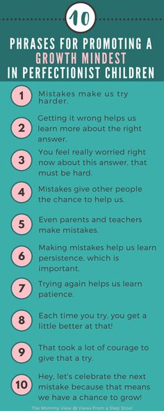 Have a perfectionist children? Trying to validate their fears and frustrations can be challenging. Try these phrases to promote a growth mindset for your little perfectionist! Kids And Parenting, Parenting Hacks, Parenting Classes, Parenting Styles, Parenting Goals, Mindful Parenting, Peaceful Parenting, Gentle Parenting, Parenting Quotes