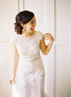 Custom stunner. Melissa Carchedi (groom's sister)