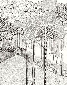 Zentangle Woodland by Carmen Beecher