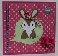 Gemaakt door Sophie # kaart met konijntje