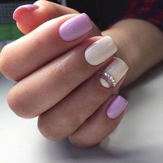 Delightful Short Nail Designs ★ See more: naildesignsjourna… - Nails Tip Soft Nails, Simple Nails, Short Nail Designs, Nail Art Designs, Trendy Nails, Cute Nails, Hair And Nails, My Nails, Bride Nails