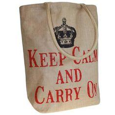 Jute Trend Bag - Keep Calm