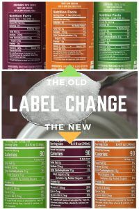 Can you spot the difference in the new nutritional labels?