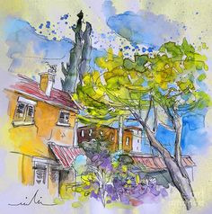 Tarbes 04 Painting by Miki De Goodaboom