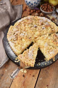 Apfel-Streuselkuchen mit Quark