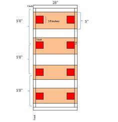 Build a Shuffleboard Table Overhead View