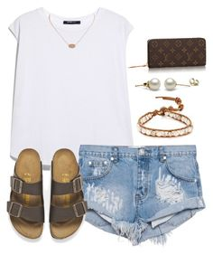 A fashion look from August 2015 featuring oversized tees, short denim shorts and brown leather shoes. Browse and shop related looks. Casual Summer Dresses, Cute Summer Outfits, Spring Outfits, Cute Outfits, Summer Clothes, Lazy Day Outfits, Preppy Outfits, College Outfits, Fashion Outfits