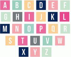 Silhouette Design Store - View Design #65079: solid square monogram alphabet