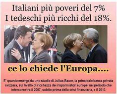 """Discutendo con una elegante signora tedesca rispetto alla situazione economica in italia ... """"lo si sa...quando qualcuno ha vantaggio,è sempre a svantaggio d qualcun'altro"""" puro e sincero..."""