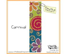 Carnival Peyote Bracelet Pattern by VikisBeadingPatterns