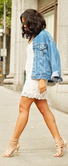 Summer Combo: Denim  Lace -   Pretty Slick  Chick