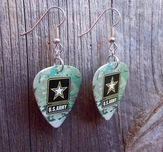 Army Camo Guitar Pick Earrings – SimplyRaevyn Military Jewelry, Guitar Pick Jewelry, Army Camo, Guitar Picks, Stocking Stuffers, Clip On Earrings, My Ebay, Sterling Silver, Pendant