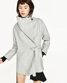 Image 6 of CROSSOVER BELTED COAT from Zara