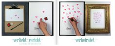 Gästebuch Fingerabdruck...man braucht ein Papier mit Namen des Brautpaares, Stempelkissen und verschiedene Fingerabdrücke, später aus den Fingerabdrücken Luftballons machen (Schnüre anmalen)