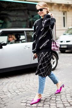 See how your favorite street style stars wear jeans with heels and get all the inspiration you need for your next look.