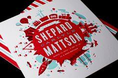Letterpressed birth announcements by Ty Mattson.