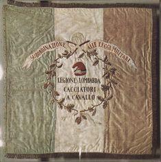 Bandiera di guerra della Legione lombarda dei Cacciatori a cavallo