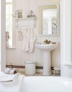 Un baño retro y muy relajante