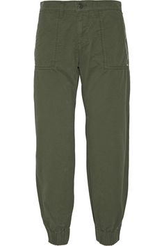 Army-green cotton-twill Button and concealed zip fastening at front 100% cotton Machine wash Designer color: JungleLarge to size. See Size & Fit notes.