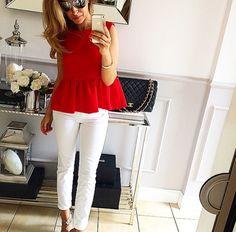 #tym razem w kolorze czerwonym. Bluzka z baskinka roz.36 #Mint_label_ #mintlabel #instafollow # #streetfashion #streetstyle #hifashion #highstreet