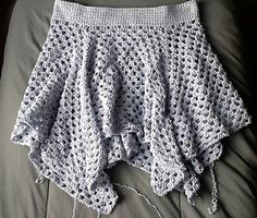 love this idea for my twenty something girl--a granny square swing skirt--free pattern