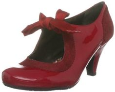 Hush Puppies Annalise Red Leather Womens Shoes Co Uk