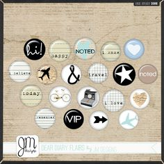 Dear Diary Flairs by JM Designs (digital product)