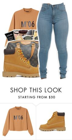 """""""Untitled #382"""" by mindset-on-mindless ❤ liked on Polyvore featuring beauty, Monki and Timberland"""