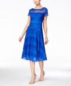 Sangria Short-Sleeve Tiered Ruffled Dress | macys.com