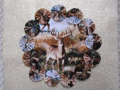 Deer Doilypenny rug style candle mat home decor gift by SursyShop, $8.00