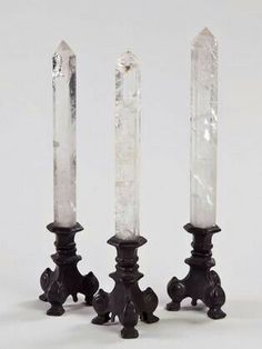 Candle holders or Chrystal stands?