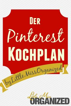 Pinterest Kochplan
