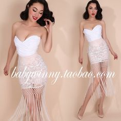 Material: Lace Silhouette: Pencil Decoration: Tassel Dresses Length: Above Knee, Mini Style: Fashion Pattern Type: Solid Waistline: Empire Gender: Women Profile: Type H Waist type: Paige Style: Retro