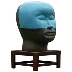 Jun Kaneko - Giant Head. | From a unique collection of antique and modern sculptures at http://www.1stdibs.com/furniture/more-furniture-collectibles/sculptures/