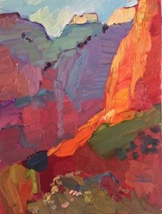 Larisa Aukon, Biggest Treasure by Larisa Aukon Oil ~ 16 x 12