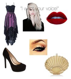 """""""Ursula"""" by my-chemical-romance-gaming ❤ liked on Polyvore featuring Yves Saint Laurent and Jessica Simpson"""