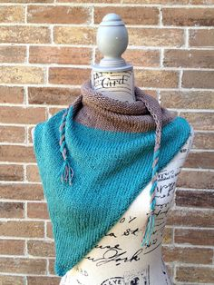 Driftwood on the Beach Triangle Scarf  by IndustrialWhimsy on Etsy, #trianglescarf #fall #scarf
