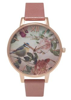 Olivia Burton Woodland Bird Watch - Rose & Gold