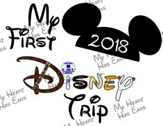 My first Disney trip in Star Wars character font with Mickey Mouse ears 2018 INSTANT DOWNLOAD digital clip art DIY for shirt :: My Heart Has Ears